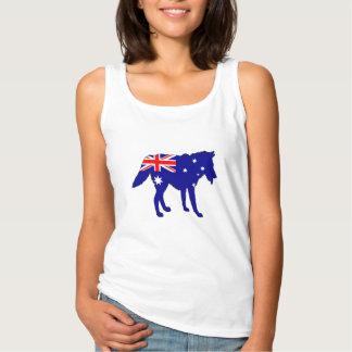 Australian Flag - Wolf Tank Top