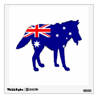 Australian Flag - Wolf Wall Sticker