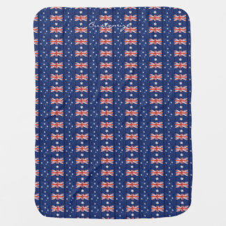 australian flags pattern  Thunder_Cove blue Baby Blanket