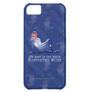 Australian Girl Silhouette Flag iPhone 5C Case