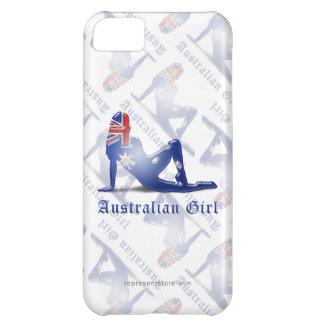 Australian Girl Silhouette Flag iPhone 5C Cover