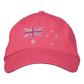Australian Girly Flag Embroidery Baseball Cap