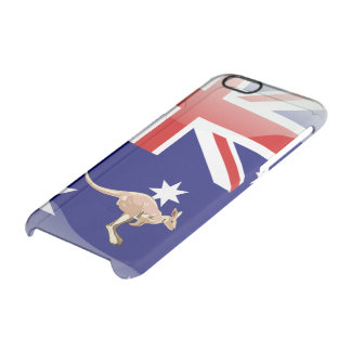 Australian glossy flag clear iPhone 6/6S case