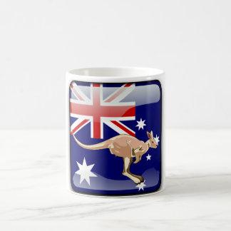 Australian glossy flag coffee mug