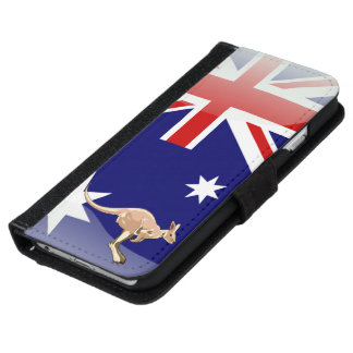 Australian glossy flag iPhone 6 wallet case