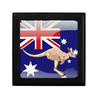 Australian glossy flag keepsake box