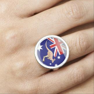 Australian glossy flag ring