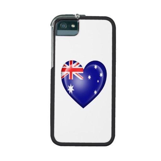 Australian Heart Flag on White iPhone 5 Covers