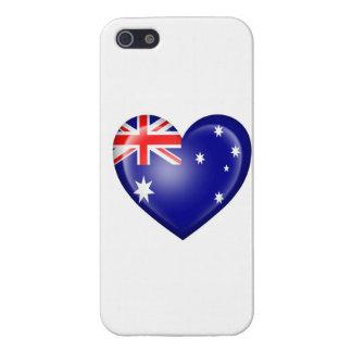 Australian Heart Flag on White iPhone 5/5S Cover