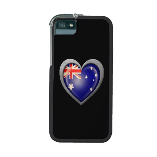 Australian Heart Flag with Metal Effect Cover For iPhone 5