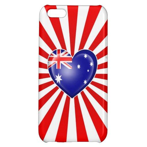 Australian Heart Flag with Star Burst Case For iPhone 5C