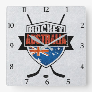 Australian Ice Hockey Flag Wall Clock