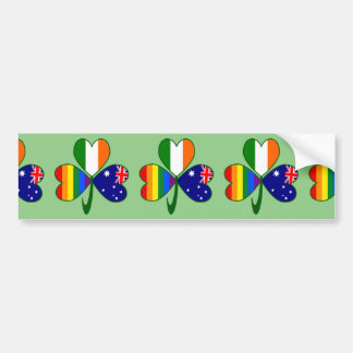 Australian Irish Gay Pride Shamrock Bumper Sticker