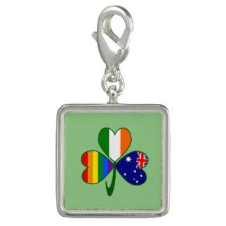 Australian Irish Gay Pride Shamrock Charms