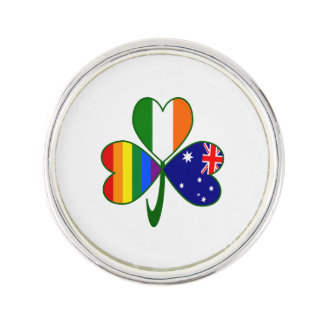 Australian Irish Gay Pride Shamrock Lapel Pin