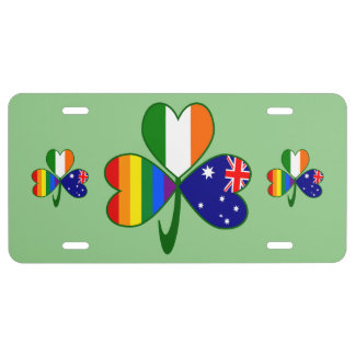 Australian Irish Gay Pride Shamrock License Plate
