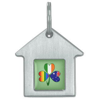Australian Irish Gay Pride Shamrock Pet ID Tag