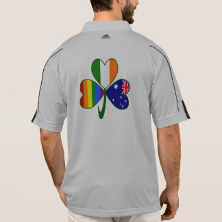 Australian Irish Gay Pride Shamrock Polo Shirt