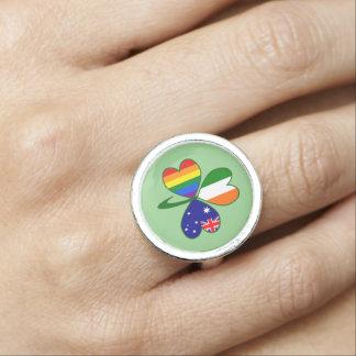 Australian Irish Gay Pride Shamrock Ring