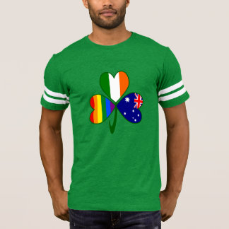 Australian Irish Gay Pride Shamrock T-Shirt