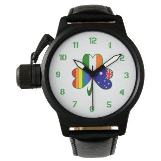 Australian Irish Gay Pride Shamrock Watch