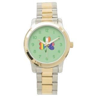 Australian Irish Gay Pride Shamrock Wrist Watches