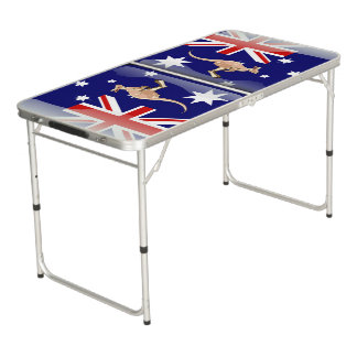 Australian kangaroo beer pong table
