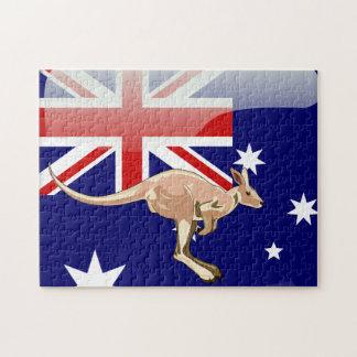 Australian kangaroo jigsaw puzzle