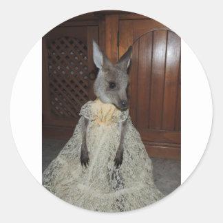 Australian Kangaroo Joey Round Sticker