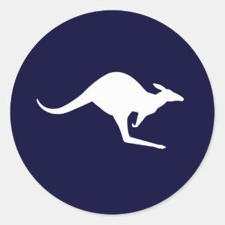 Australian Kangaroo (pack of 6/20) Round Sticker