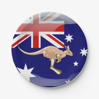 Australian kangaroo paper plate