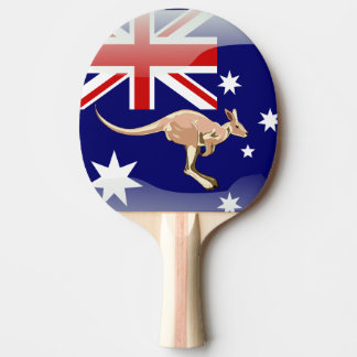 Australian kangaroo ping pong paddle