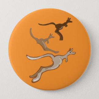 Australian Kangaroos 4 Inch Round Button