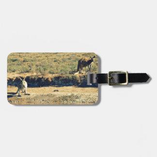 Australian kangoroo luggage tag