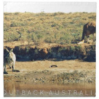 Australian kangoroo napkin