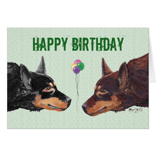 Australian Kelpie Happy Birthday Card