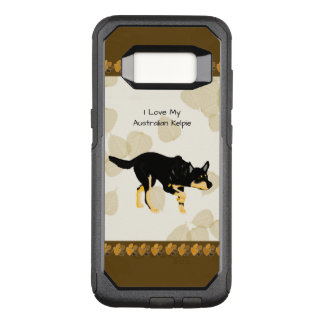 Australian Kelpie on Tan Leaves OtterBox Commuter Samsung Galaxy S8 Case