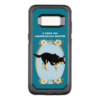 Australian Kelpie on Teal Floral OtterBox Commuter Samsung Galaxy S8 Case