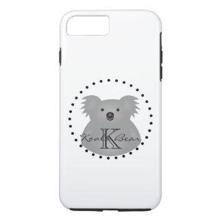 Australian Koala Bear Cute Add Your Name Monogram iPhone 8 Plus/7 Plus Case