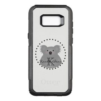 Australian Koala Bear Cute Add Your Name Monogram OtterBox Commuter Samsung Galaxy S8+ Case