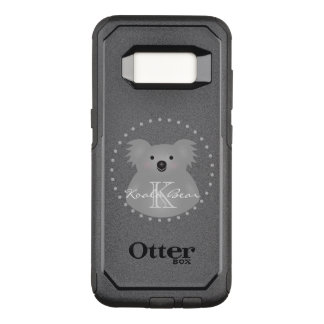 Australian Koala Bear Cute Add Your Name Monogram OtterBox Commuter Samsung Galaxy S8 Case