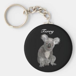 Australian Koala Personalized Keychain