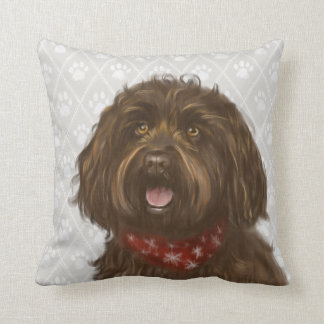 Australian Labradoodle Darcey Throw Pillow
