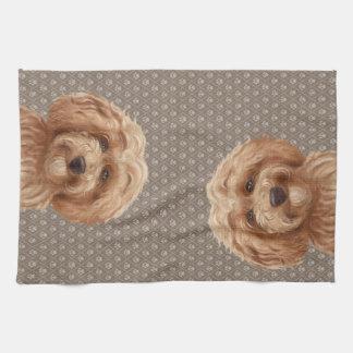 Australian Labradoodle Goldendoodle  Beige Kitchen Towel