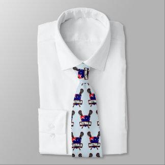 Australian Lacrosse Logo Tie