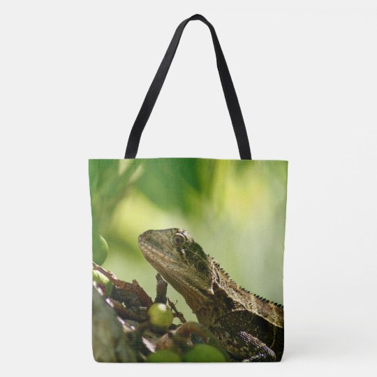 Australian lizard between leaves, All Over Photo Tote Bag