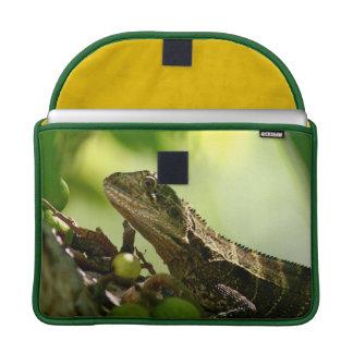 "Australian lizard hiding between leaves, 13"" Photo Sleeves For MacBook Pro"