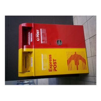 Australian mailbox. postcard