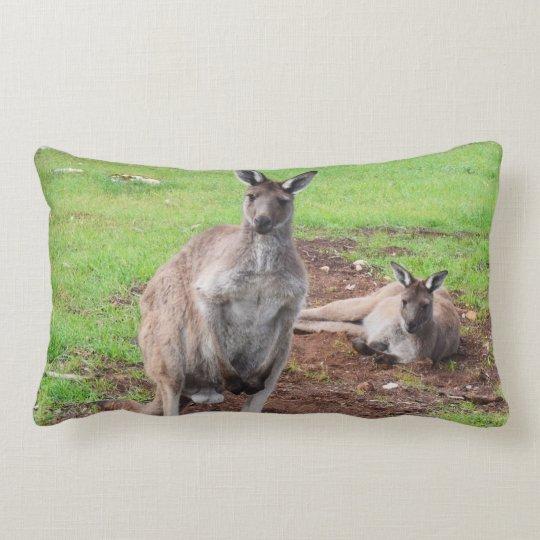 Australian Male Buck Kangaroo Lumbar Cushion. Lumbar Pillow