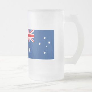 Australian National Flag Frosted Glass Beer Mug